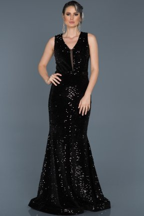 Long Black Evening Dress ABU517