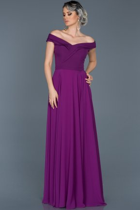 Long Purple Engagement Dress ABU012