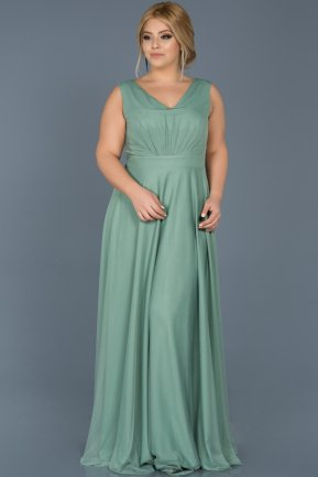 Long Turquoise Plus Size Evening Dress ABU056