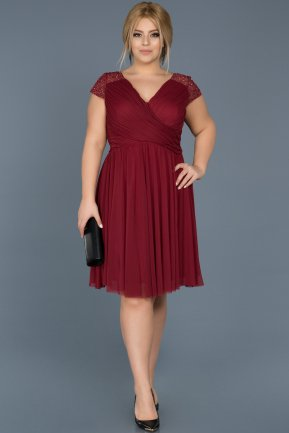 Short Burgundy Oversized Evening Dress ABK306