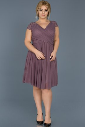 Short Lavender Oversized Evening Dress ABK306