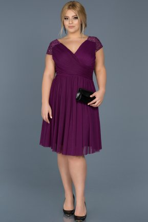 Short Purple Oversized Evening Dress ABK306
