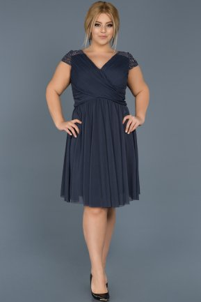 Short Indigo Oversized Evening Dress ABK306