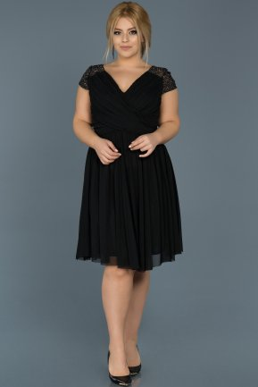Short Black Oversized Evening Dress ABK306