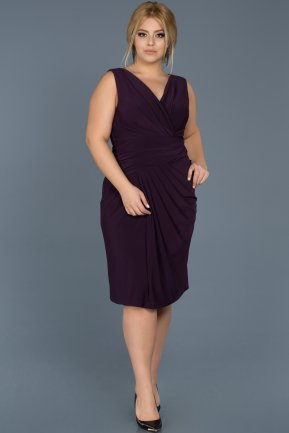 Short Violet Oversized Evening Dress ABK307