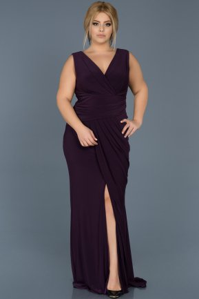 Long Violet Plus Size Evening Dress ABU532
