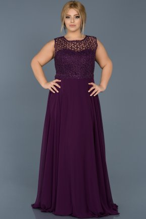 Long Purple Oversized Evening Dress ABU538