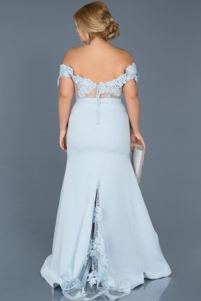 Long Blue Oversized Evening Dress ABU013