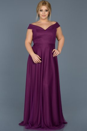 Long Purple Oversized Evening Dress ABU020