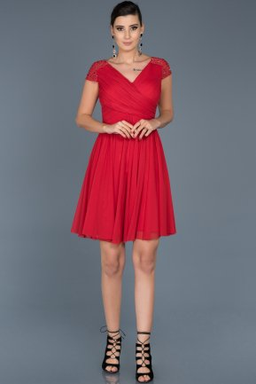 Short Red Invitation Dress ABK361