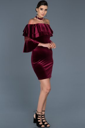 Short Burgundy Invitation Dress ABK329