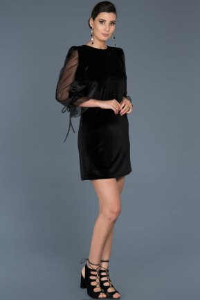 Short Black Invitation Dress ABK310