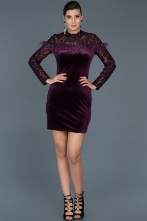 Short Purple Invitation Dress ABK321