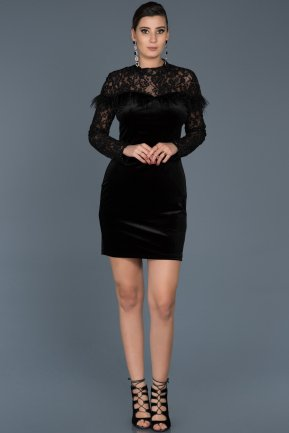 Short Black Invitation Dress ABK321