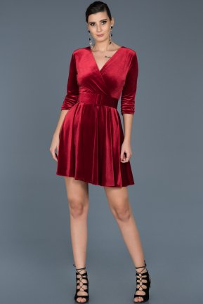 Short Red Invitation Dress ABK295