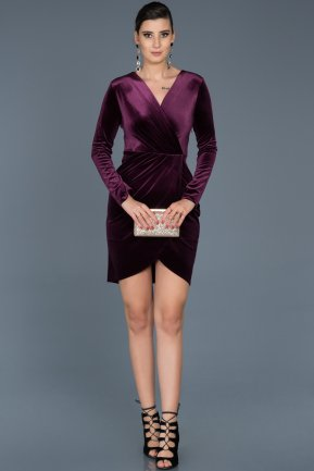 Short Purple Invitation Dress ABK320