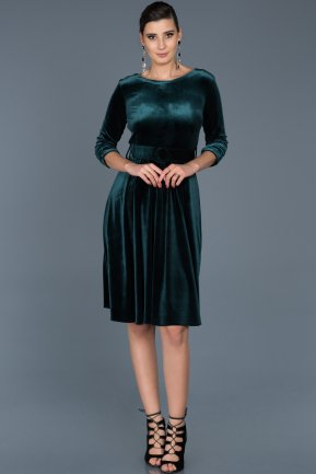 Emerald Green Invitation Dress ABK316