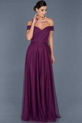 Long Pruple Evening Dress ABU020