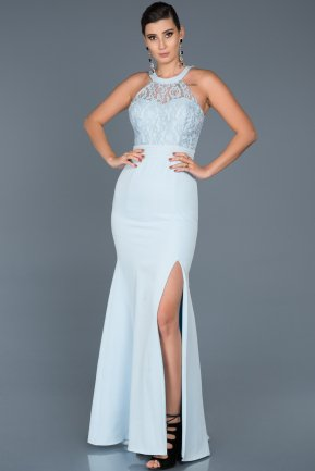 Long Blue Mermaid Prom Dress ABU473