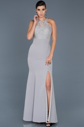 Long Grey Mermaid Prom Dress ABU473