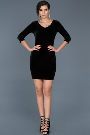 Short Black Invitation Dress ABK341