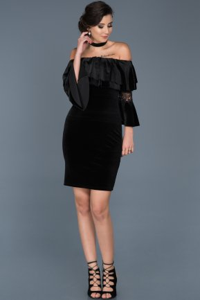 Short Black Invitation Dress ABK329