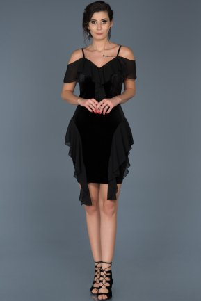 Short Black Invitation Dress ABK344