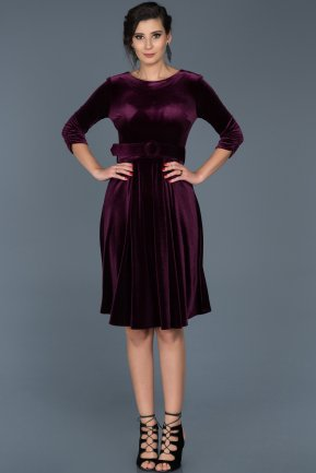 Purple Invitation Dress ABK316