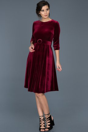 Plum Invitation Dress ABK316