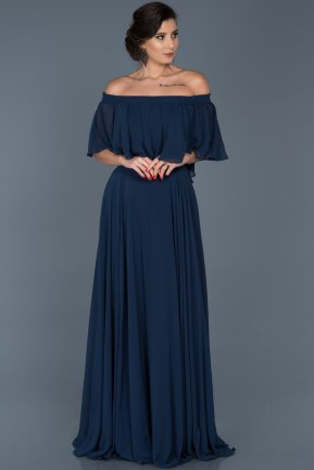 Long Navy Blue Evening Dress ABU267