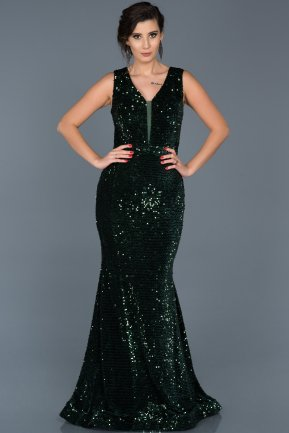 Long Emerald Green Evening Dress ABU517