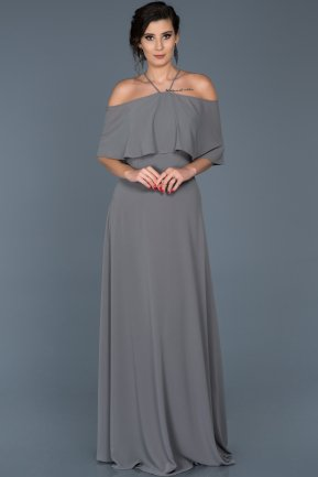 Long Anthracite Evening Dress ABU002