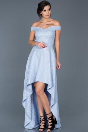 Long Light Blue Evening Dress ABO001