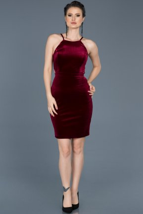 Short Burgundy Invitation Dress ABK352