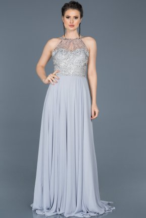 Tail Grey Engagement Dress ABU051