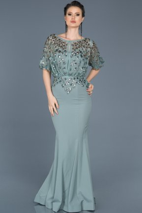 Long Firuze Mermaid Evening Dress ABU222