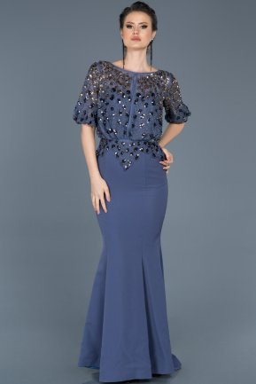 Long Indigo Mermaid Evening Dress ABU222