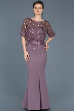 Long Lavender Mermaid Evening Dress ABU222