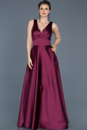 Long Plum Engagement Dress ABU577