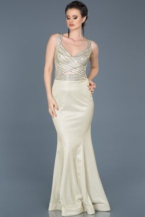 Long White Mermaid Evening Dress ABU067