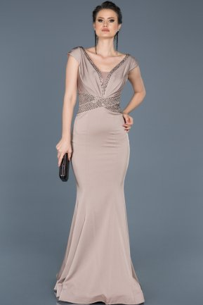 Long Mink Engagement Dress ABU239