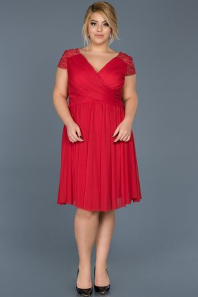 Short Red Oversized Evening Dress ABK306