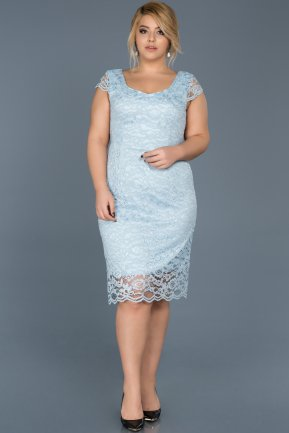 Short Blue Oversized Evening Dress ABK010