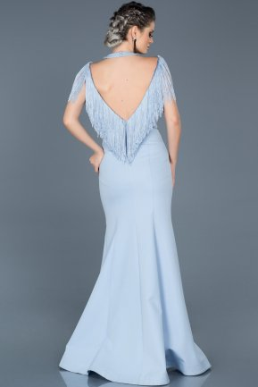 Long Ice Blue Evening Dress ABU017