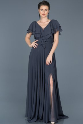 Long Indigo Engagement Dress ABU032