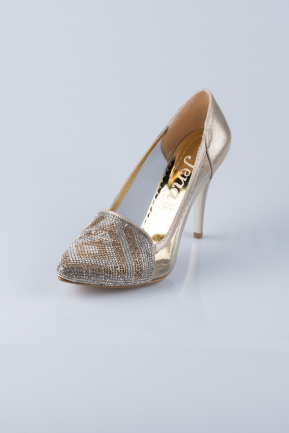 Gold Evening Shoes MJ3586