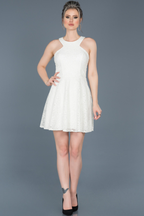 Short White Invitation Dress ABK369