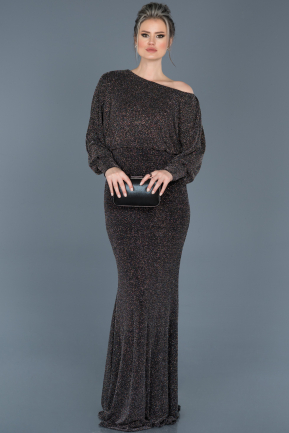 Long Black Evening Dress ABU528