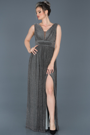 Long Anthracite Prom Gown ABU598