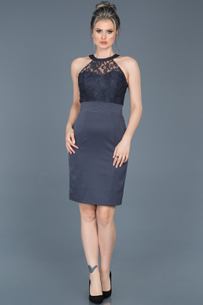 Short Indigo Invitation Dress ABK278